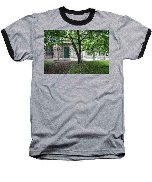 Old Building Exterior Baseball T-Shirt by Teemu Tretjakov