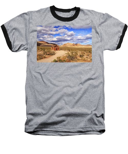 Baseball T-Shirt featuring the photograph Old Cabin At Rhyolite by James Eddy