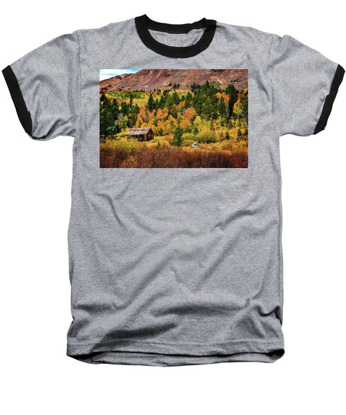 Old Cabin In Hope Valley Baseball T-Shirt