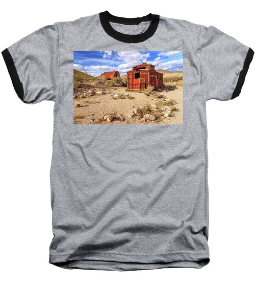 Baseball T-Shirt featuring the photograph Old Caboose At Rhyolite by James Eddy