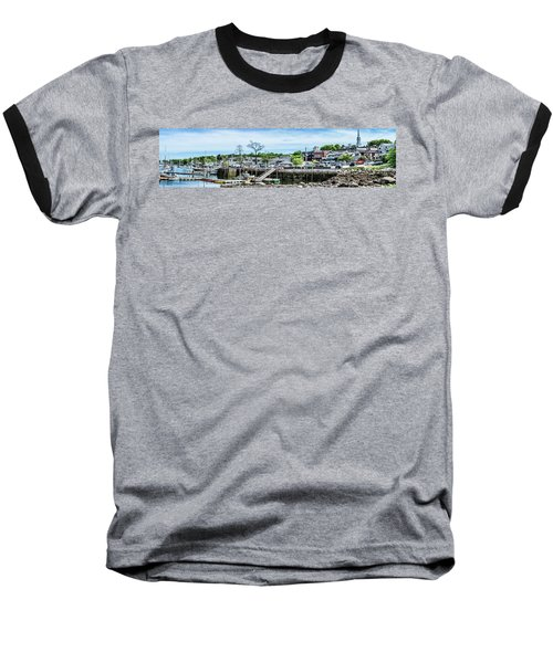 Baseball T-Shirt featuring the digital art Old Camden Harbor View by Daniel Hebard