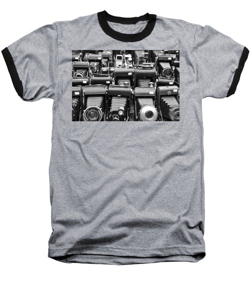 Old Cameras Baseball T-Shirt
