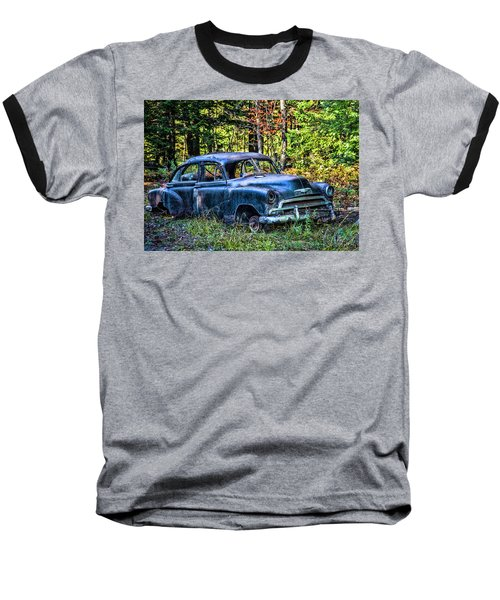 Old Car Baseball T-Shirt by Alana Ranney