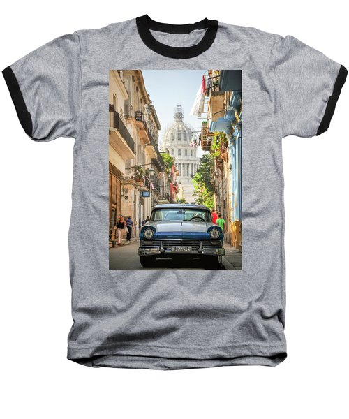 Old Car And El Capitolio Baseball T-Shirt
