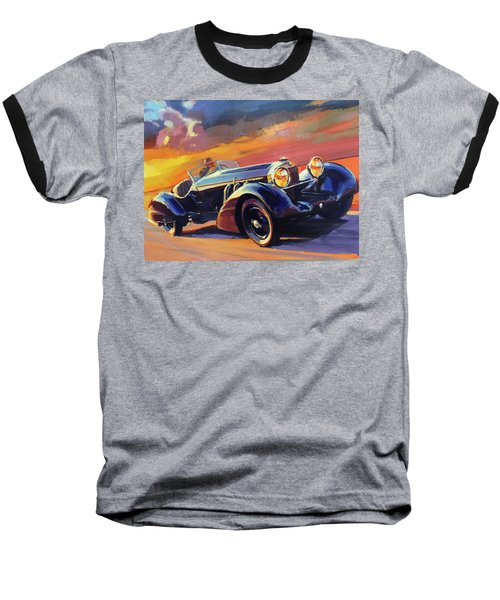Old Car Racing Baseball T-Shirt