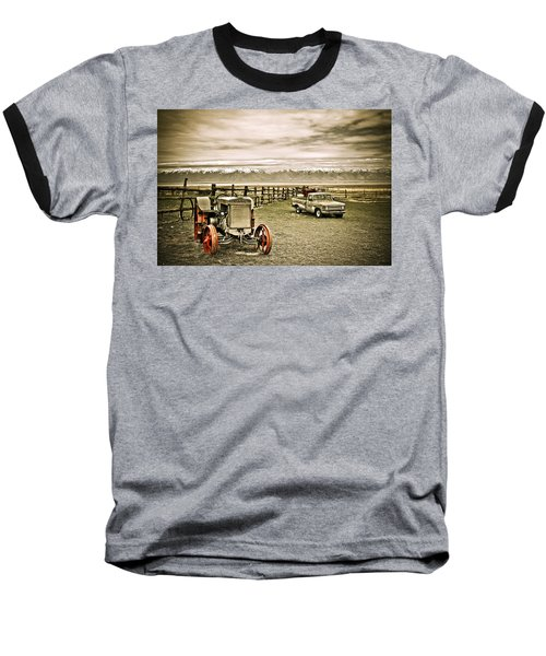 Old Case Tractor Baseball T-Shirt