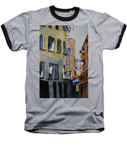 Old Chinatown Lane Baseball T-Shirt by Tom Simmons