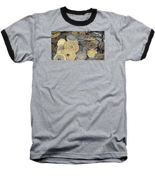 Old Chinese Coins And Money Baseball T-Shirt by Yali Shi