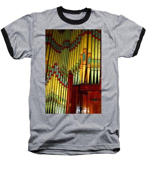 Old Church Organ Baseball T-Shirt