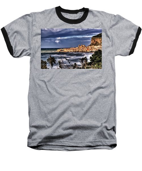 Old Coastal City  Baseball T-Shirt