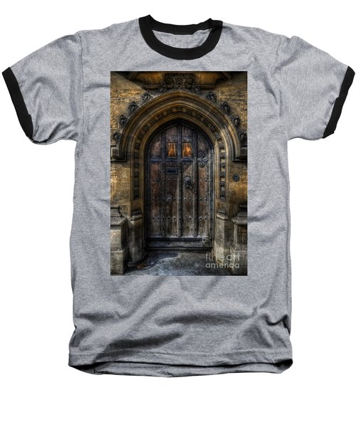 Old College Door - Oxford Baseball T-Shirt