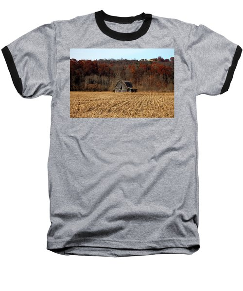 Old Country Barn In Autumn #1 Baseball T-Shirt