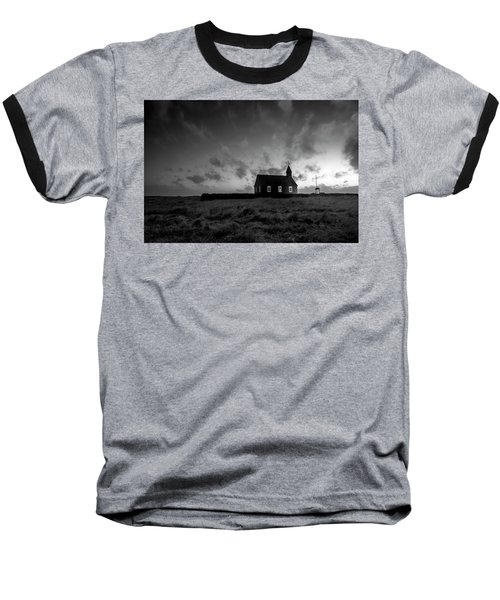 Old Countryside Church In Iceland Baseball T-Shirt