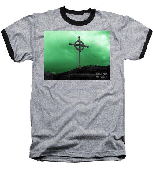 Old Cross - Green Sky Baseball T-Shirt