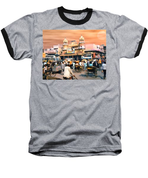 Old Dehli Baseball T-Shirt by Kurt Van Wagner