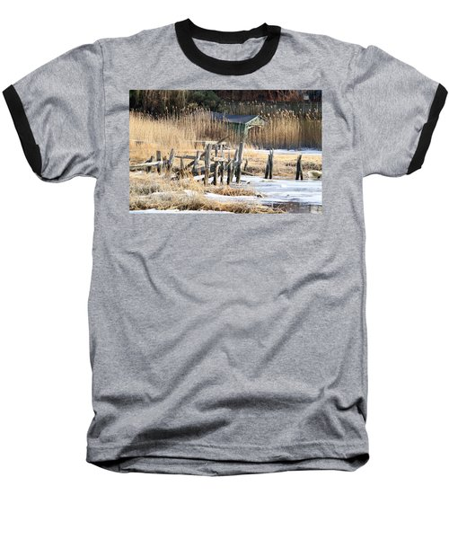 Old Dock And Boathouse  Baseball T-Shirt
