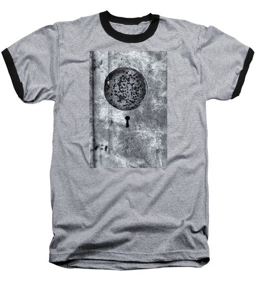 Baseball T-Shirt featuring the photograph Old Doorknob by Tom Singleton