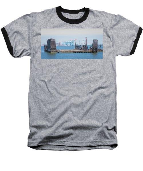 Old Dry Dock In Kill Van Kull Baseball T-Shirt
