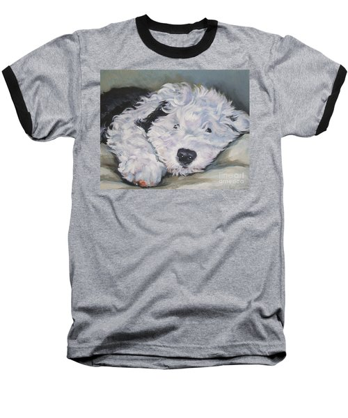 Old English Sheepdog Pup Baseball T-Shirt