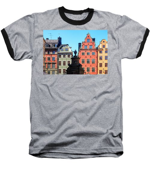 Old European Architecture Baseball T-Shirt by Teemu Tretjakov