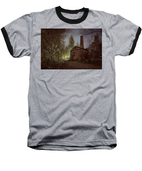 Old Factory Ruins Baseball T-Shirt
