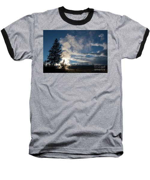 Old Faithfull At Sunset Baseball T-Shirt