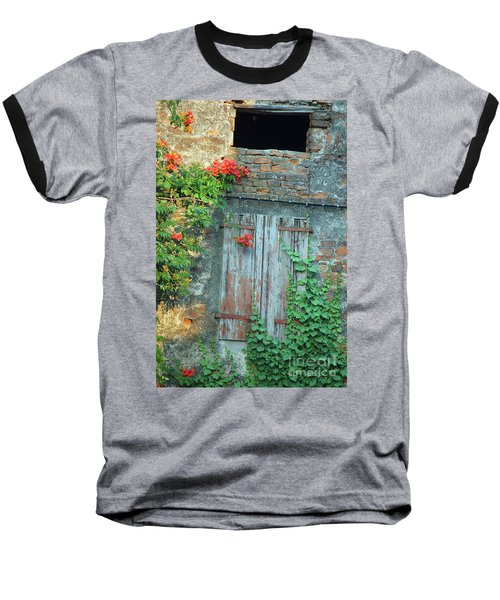 Old Farm Door Baseball T-Shirt