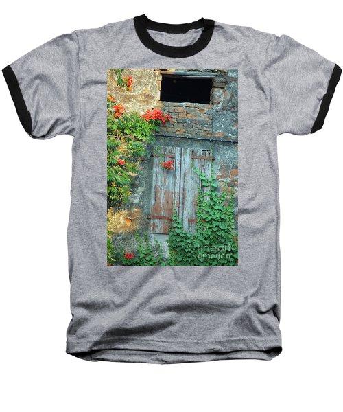 Old Farm Door Baseball T-Shirt