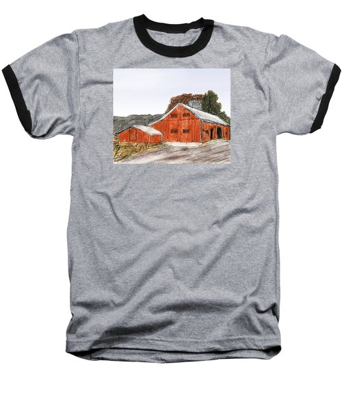 Old Farm In The Country Baseball T-Shirt by R Kyllo