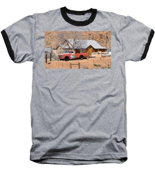 Old Farm Trucks Along Route 66 Baseball T-Shirt