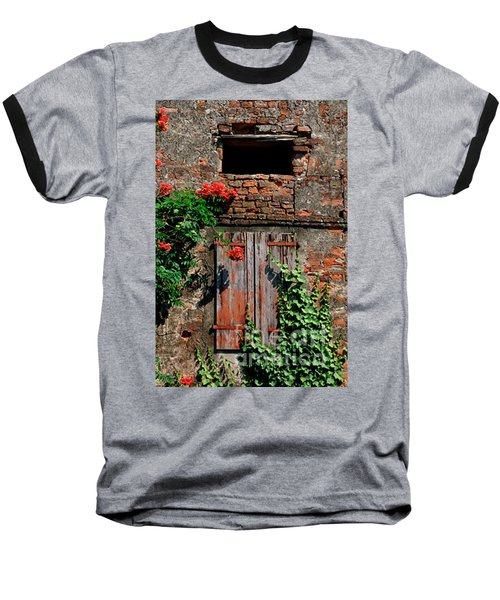 Old Farm Window Baseball T-Shirt