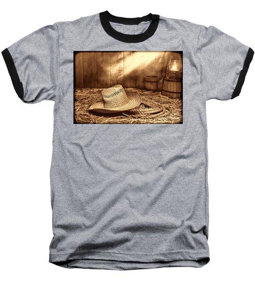 Old Farmer Hat And Rope Baseball T-Shirt