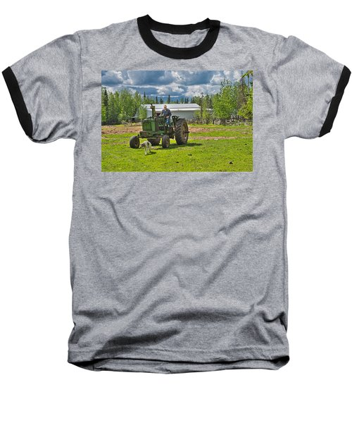 Old Farmer Old Tractor Old Dog Baseball T-Shirt