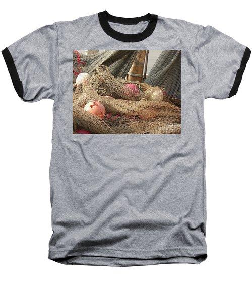 Old Fishing Nets With Floats Baseball T-Shirt by Yali Shi