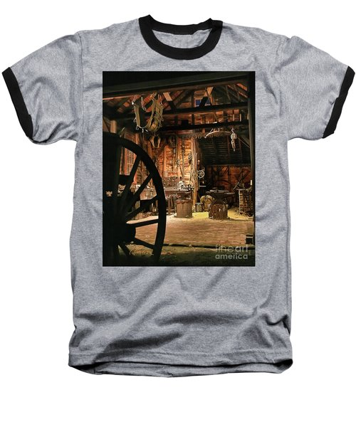 Baseball T-Shirt featuring the photograph Old Forge by Tom Cameron