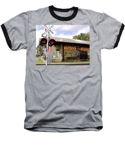 Old Freight Depot Perry Fl. Built In 1910 Baseball T-Shirt