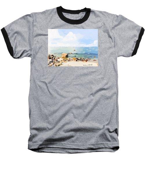 Old Garden Beach  Baseball T-Shirt