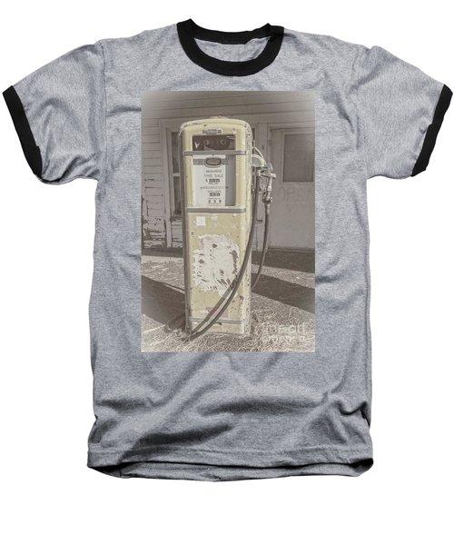Old Gas Pump Baseball T-Shirt by Robert Bales