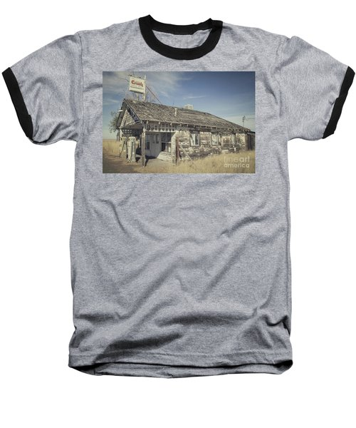 Baseball T-Shirt featuring the photograph Old Gas Station by Robert Bales