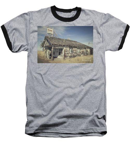 Old Gas Station Baseball T-Shirt by Robert Bales