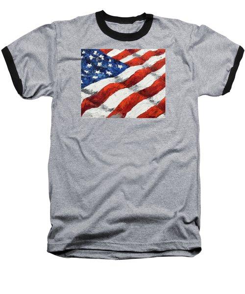 Old Glory II Baseball T-Shirt