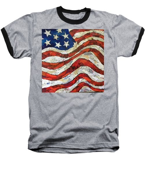 Old Glory II Baseball T-Shirt