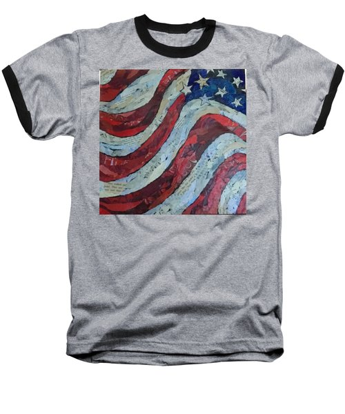 Old Glory Baseball T-Shirt