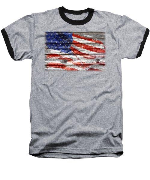 Old Glory Baseball T-Shirt by Phyllis Denton