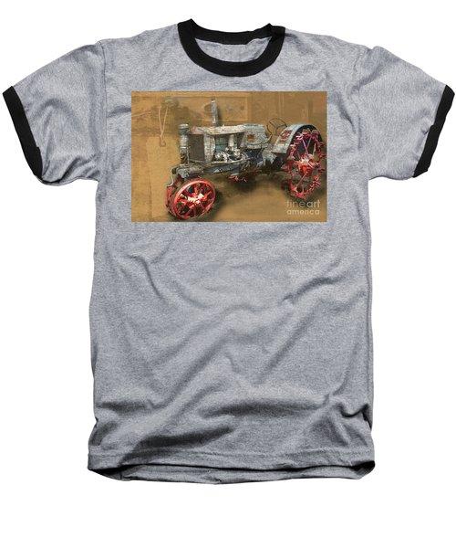 Old Grey Tractor Baseball T-Shirt