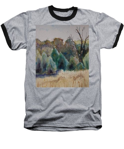 Baseball T-Shirt featuring the painting Old Growth Forest by Patsy Sharpe