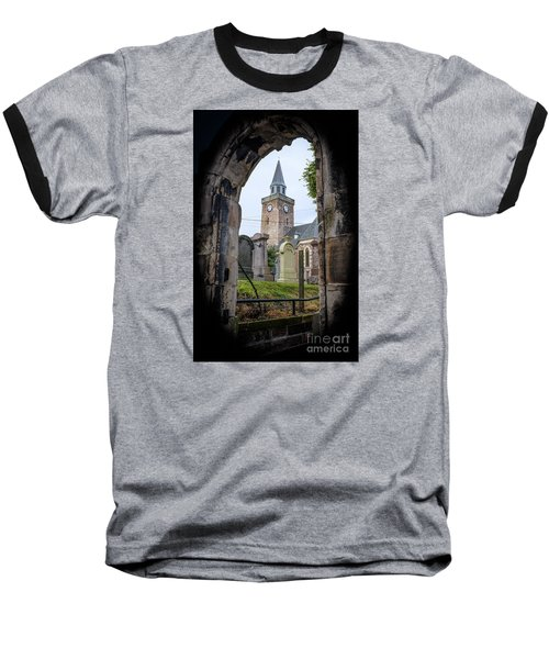 Old High St. Stephen's Church Baseball T-Shirt by Amy Fearn