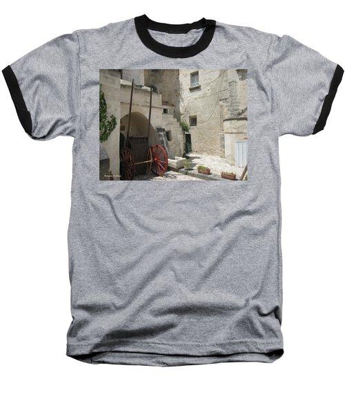 Old Horsecart In Matera Baseball T-Shirt