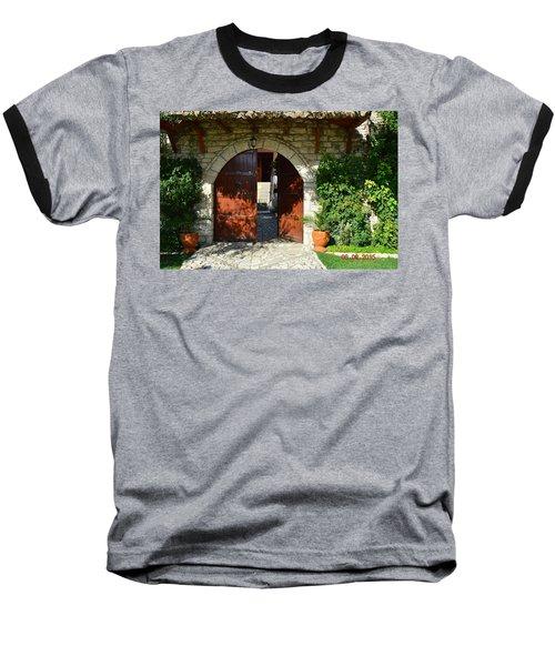 Old House Door Baseball T-Shirt