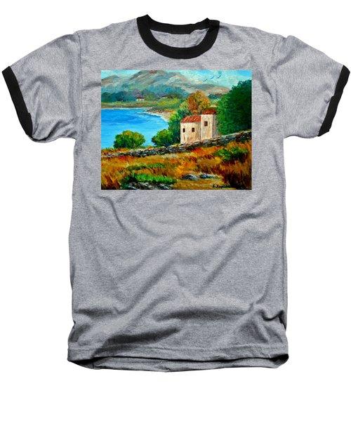 Old House In Mani Baseball T-Shirt